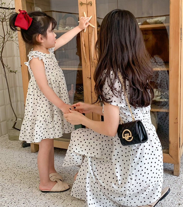 Matching Polka Dot Chiffon Dress