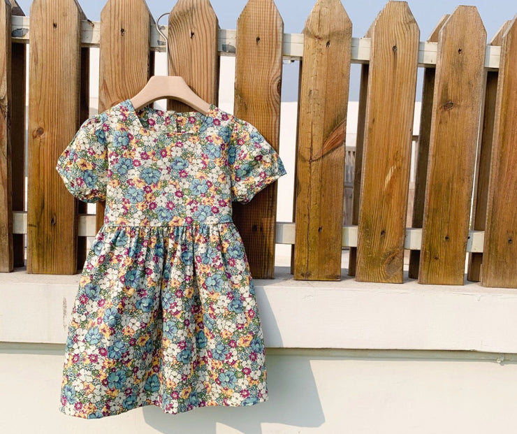 Floral Back Ribbon Dress