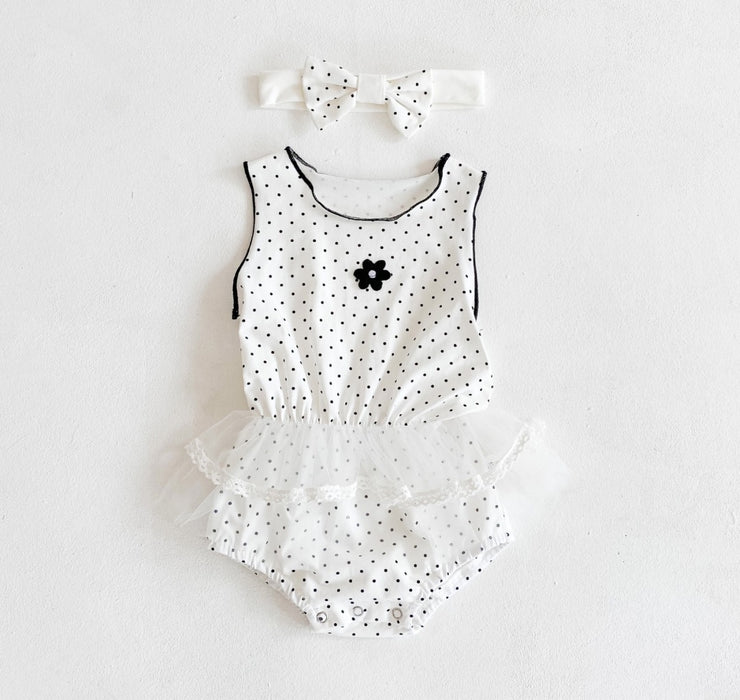 Sleeveless Flower Lace Bodysuit