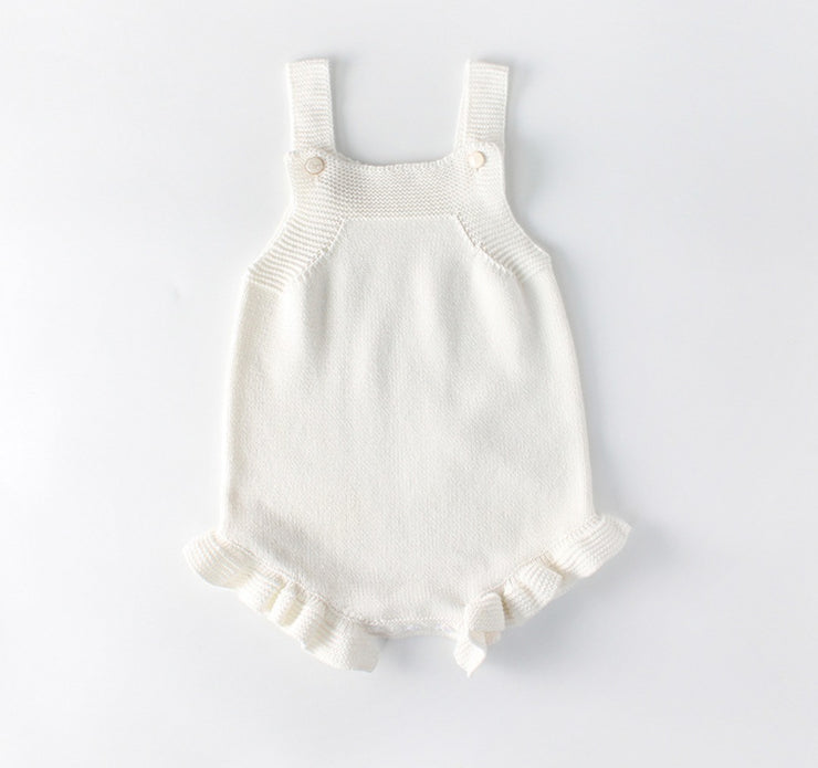 Ruffled Strap Bodysuit