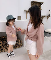 Matching Linen Blouse in Pink