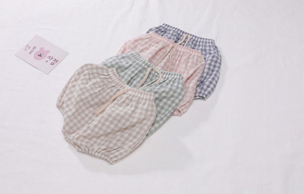 Checkered Linen Bloomer