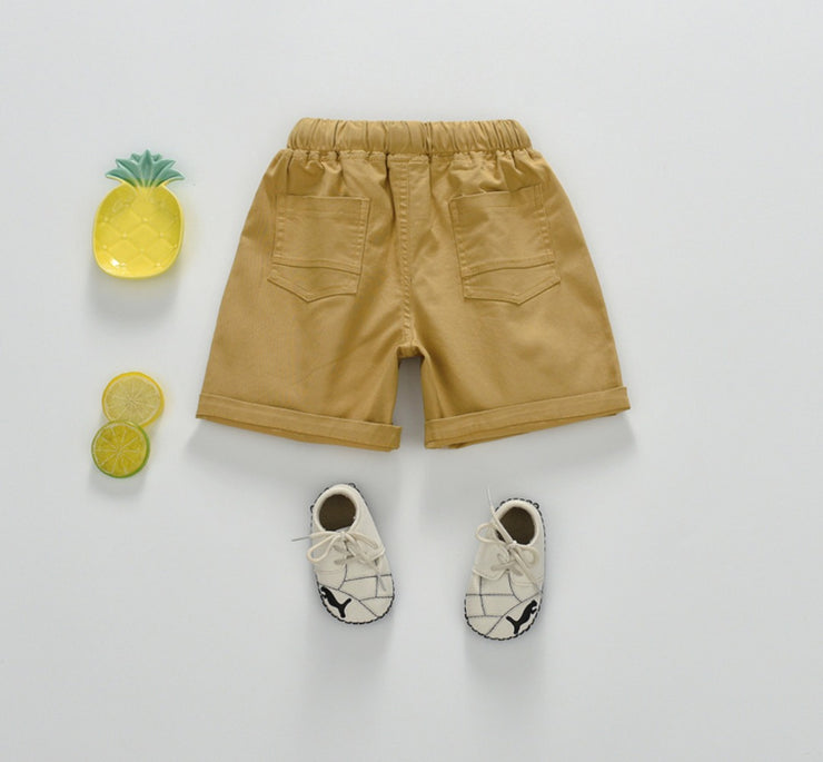 Khaki Drawstring Shorts