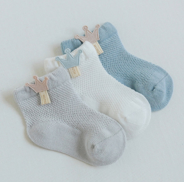 Cotton Quarter Socks (3 pairs in 1 set)