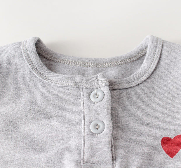 Love Cotton Three-Piece Set in Grey