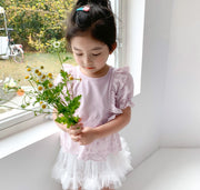 Tutu Skirt Pants in White