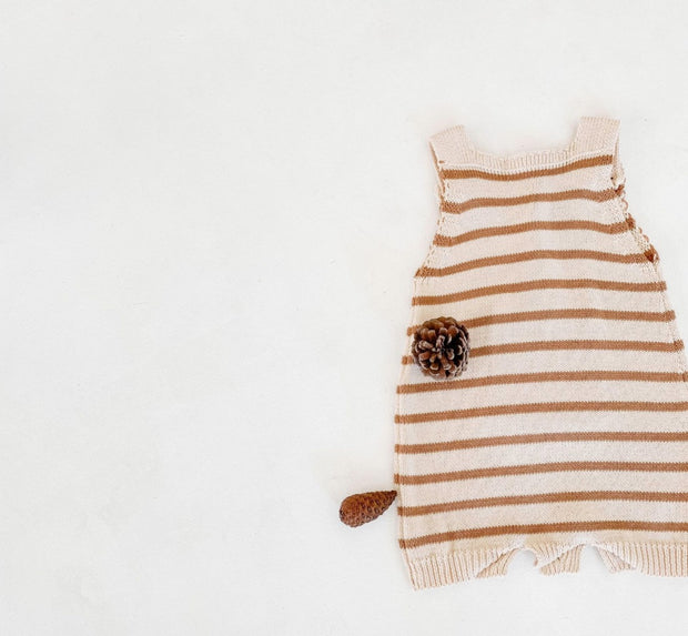 Cotton Striped Romper