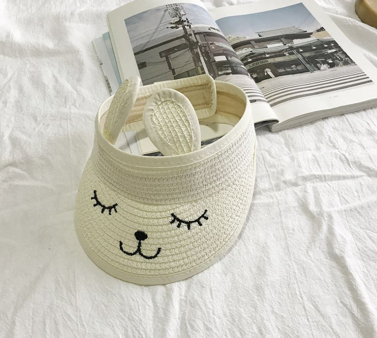 Rabbit Sun Hat in Milky White