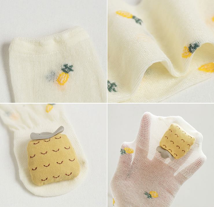 Fruity Cotton Socks (5 pairs in 1 set)