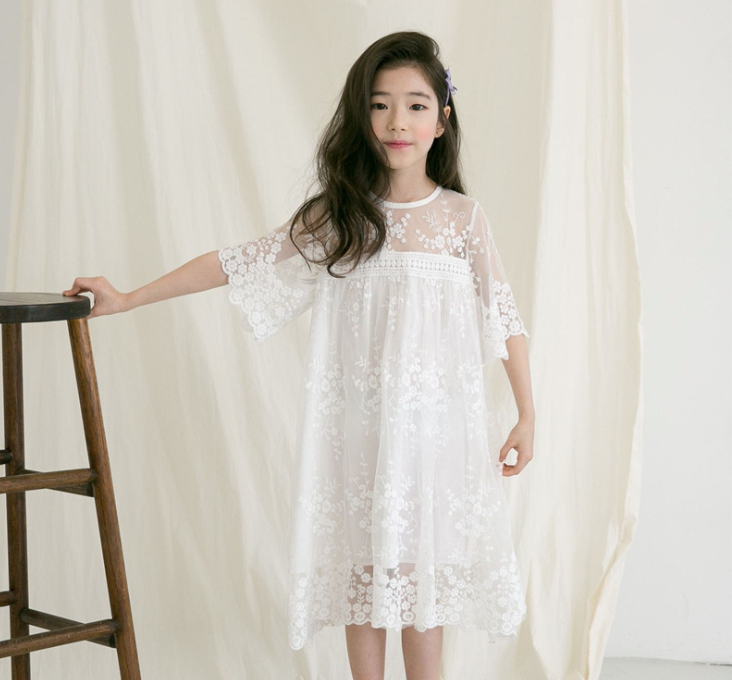 Floral Lace Princess Dress