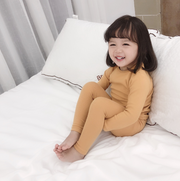 Pure Cotton Pajama Sleepwear Set in Yellow