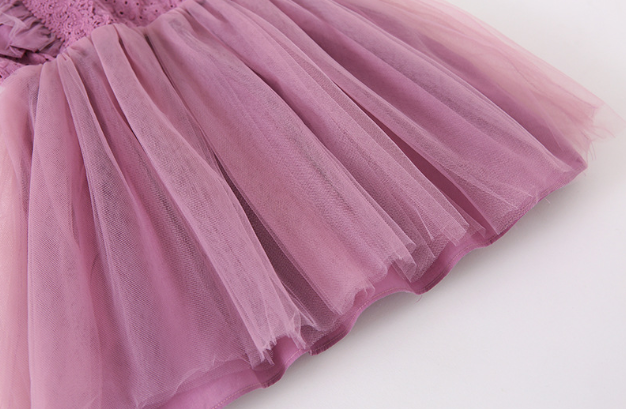 Lace Tulle Princess Dress in Dark Purple