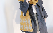 Checkered Handmade Knitted Bag
