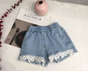 Flora Denim Shorts