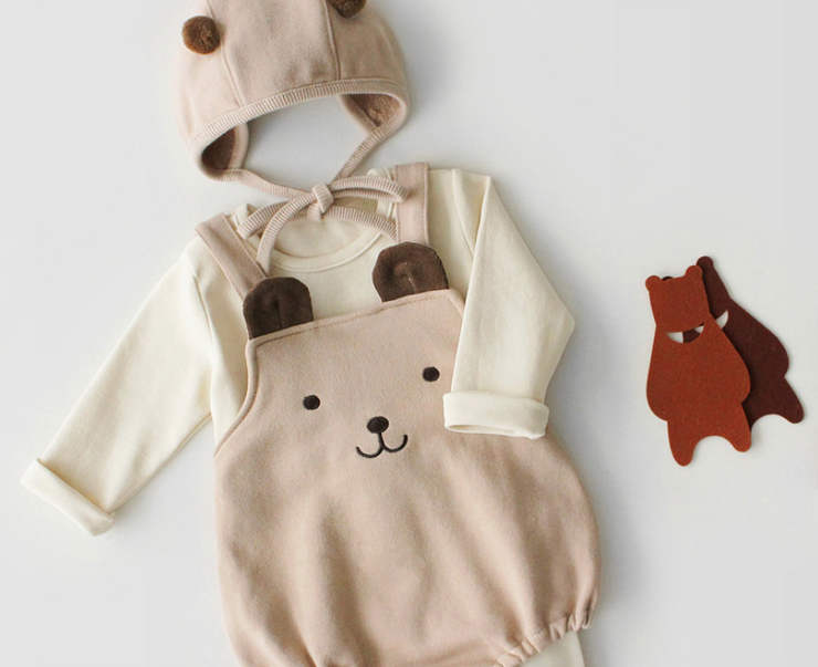 Teddy Bear Sleeveless Bodysuit