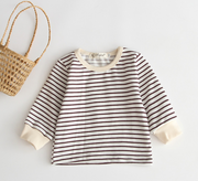 Cotton Striped Long Sleeve Shirt