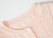 Basic Pure Cotton Button Cardigan