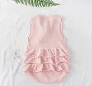 Cherry Ruffles Bodysuit in Pink