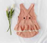 Sweet Heart Ruffles Bodysuit in Pink