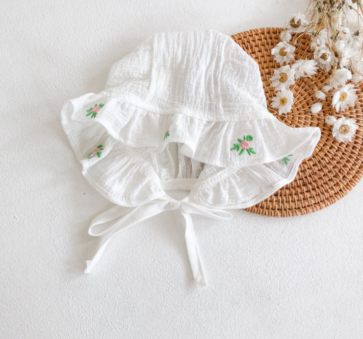 Pure White Floral Embroidery Romper