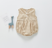 Checkered Sleeveless Bodysuit