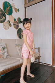 Pink Embroidery Tang Suit (In-Stock)