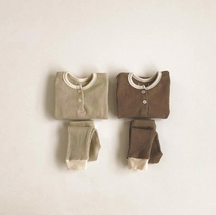 Brown Two-Piece Sleepwear Set
