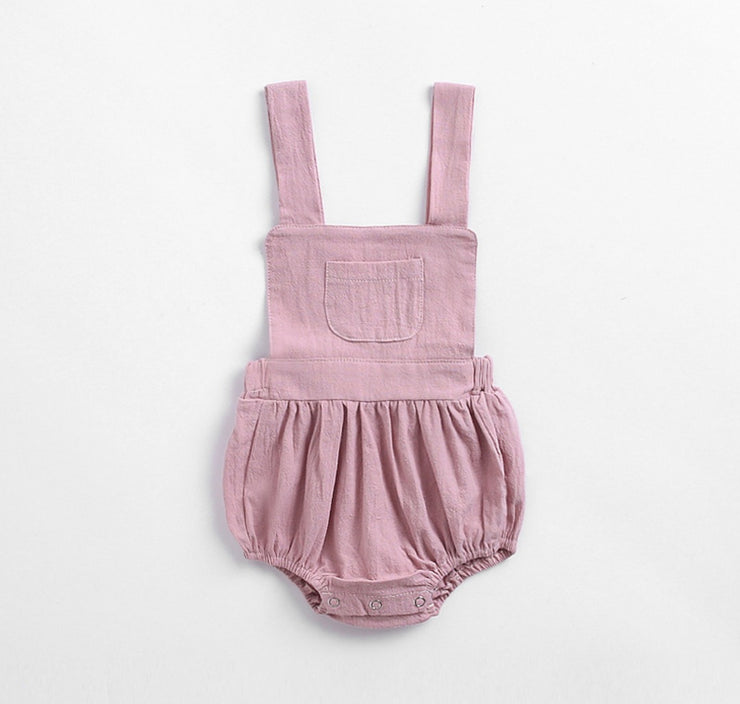 Two-Piece Dungaree Romper with Top