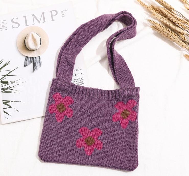 Floral Knitted Bag