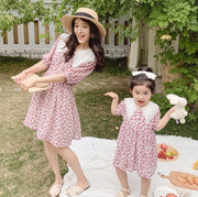 Matching Peter Pan Collar Floral Dress