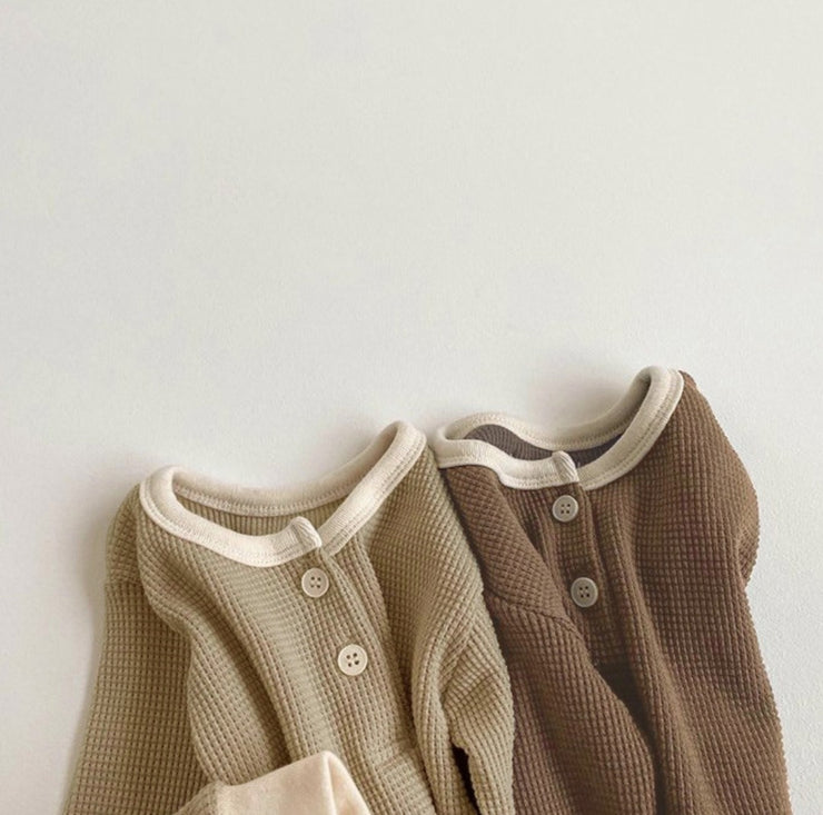Khaki Two-Piece Sleepwear Set