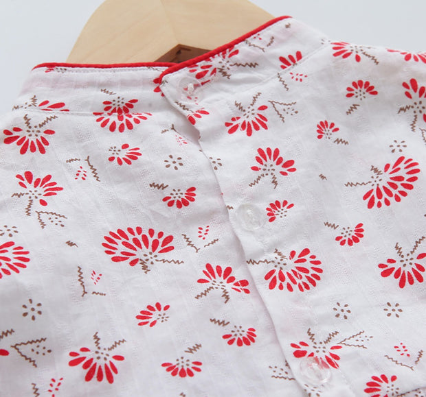 Vintage Floral Cheongsam Dress (In-Stock)