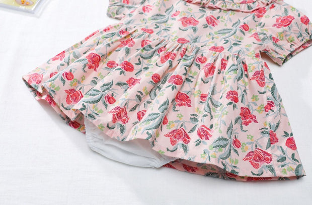 Floral Apron Dress Set