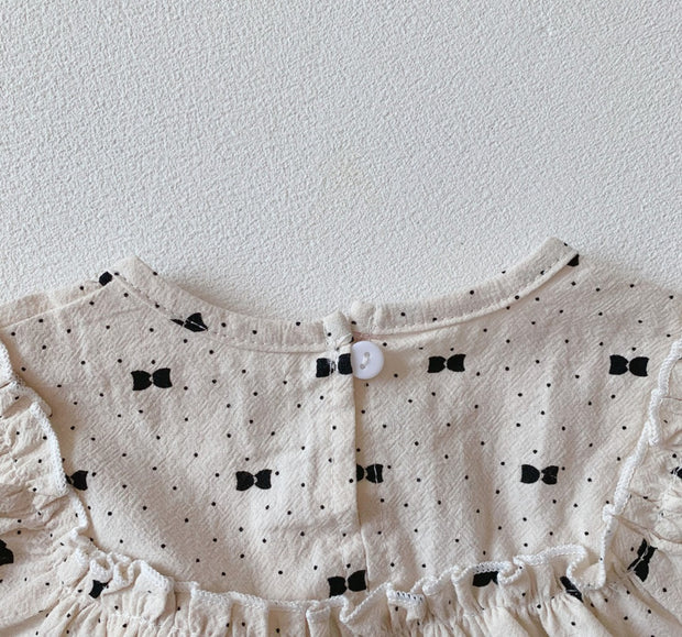 Polka Dot Two-Piece Bodysuit