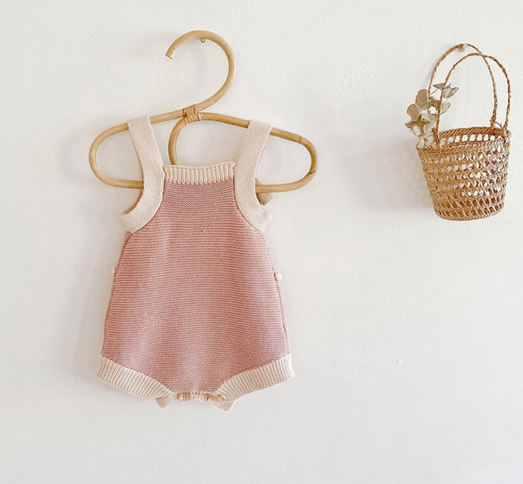 Pink Knitted Romper