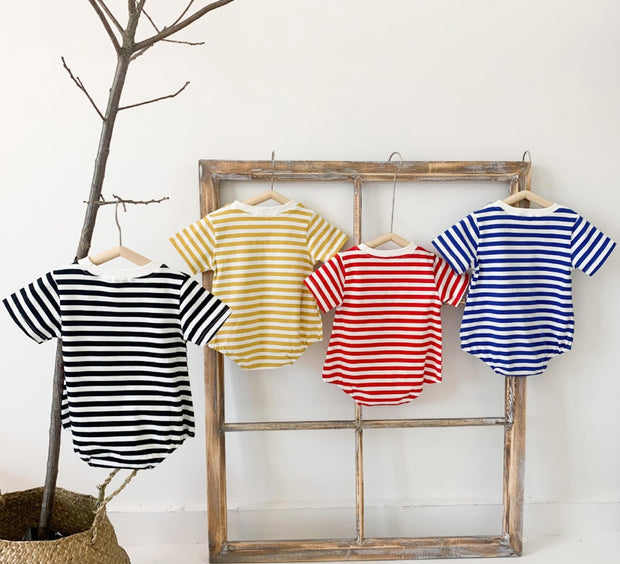 Striped Cotton Bodysuit