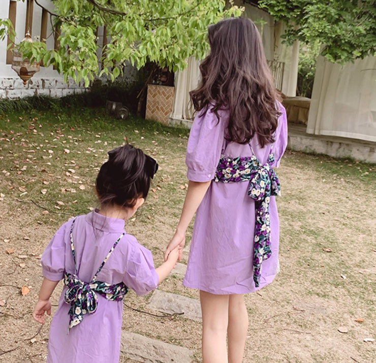 Matching Floral Shirt Dress