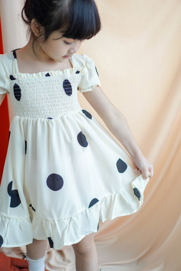Polka Dot Ribbon Dress
