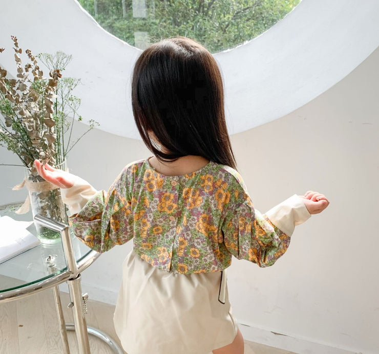 Floral Long Sleeves Top