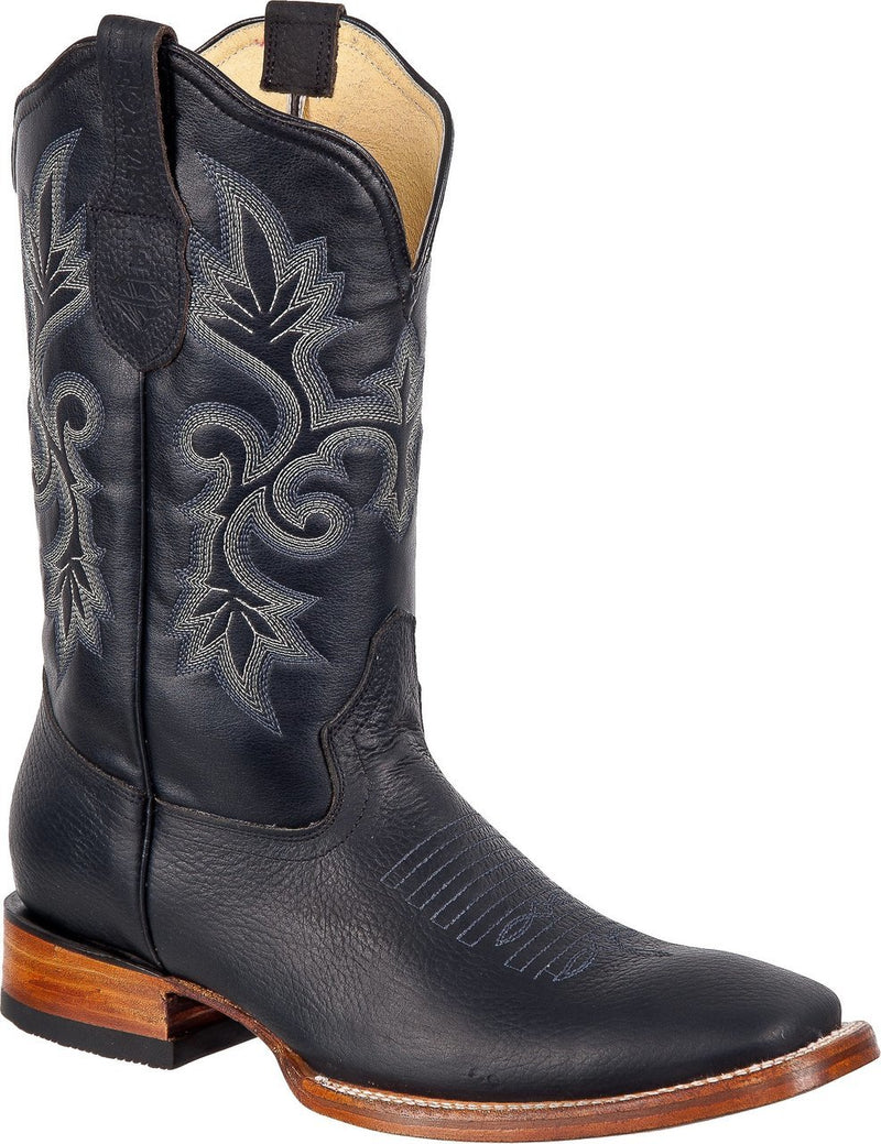 BLACK STONE Men's Black Rodeo Boots