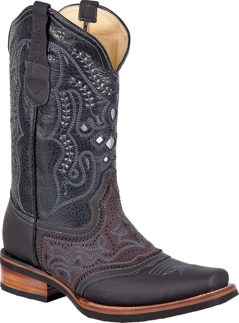 BLACK STONE Men's Black Laser Rodeo Boots