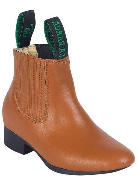 LA BARCA Kids' Tan Ankle Boots