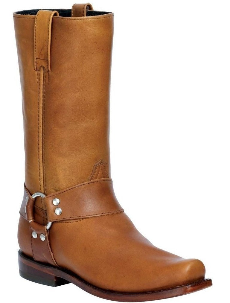 EL GENERAL Men's Tan Biker Boots