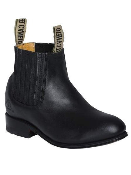 EL CANELO Kids' Black Ankle Boots