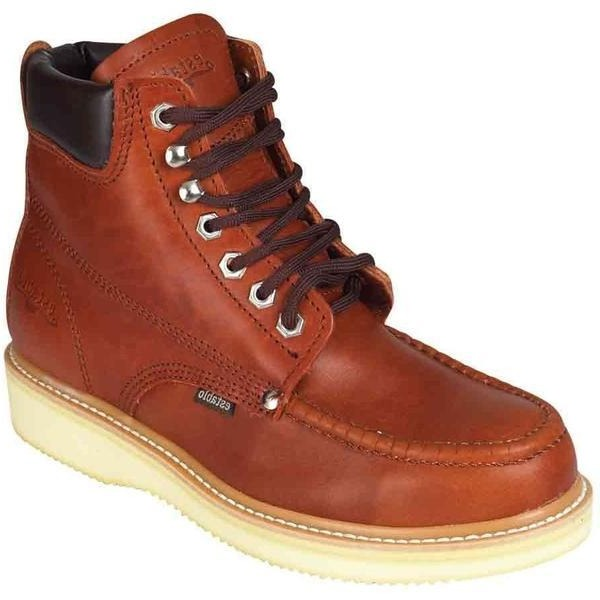 ESTABLO Men's Wine Ankle Boots