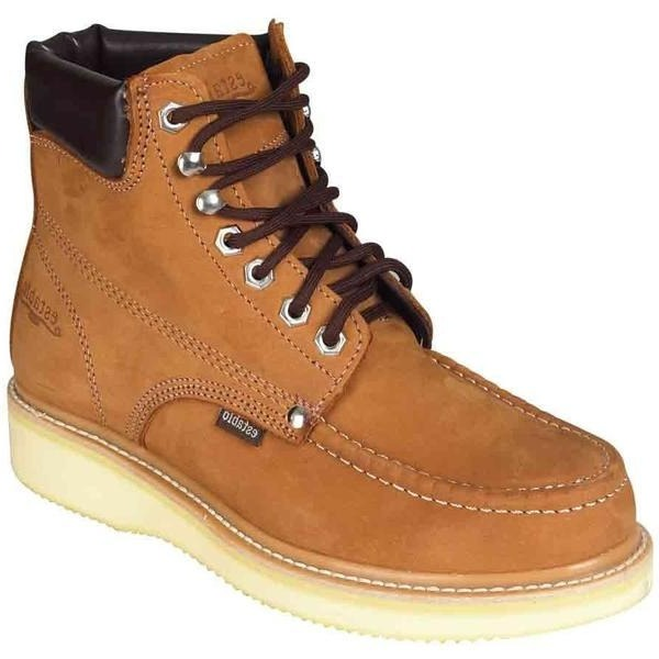 "ESTABLO Men's 6"" Tan Work Boots"