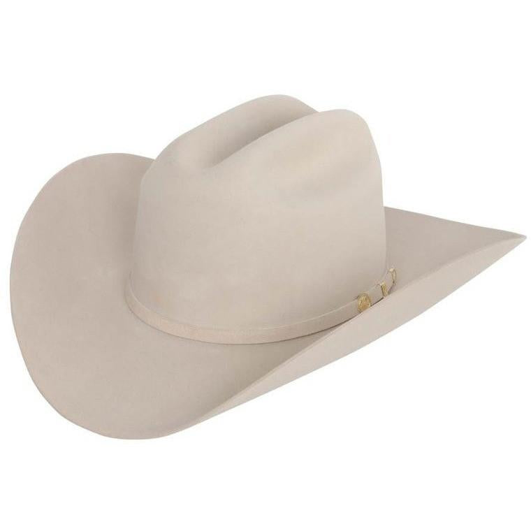 STETSON Men's Silver Belly 100X El Presidente Fur Felt Cowboy Hat