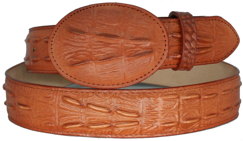 Kid's Bone Crocodile Print Belt