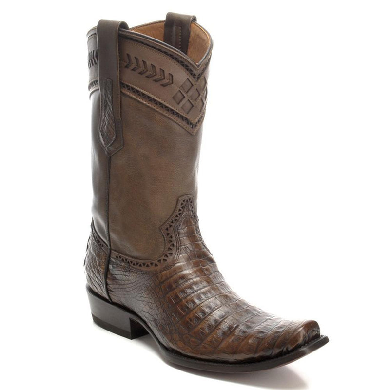 CUADRA Men's Porto Maple Caiman Exotic Boots- Square Toe