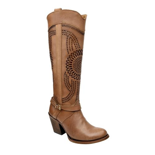 CUADRA Women's Higgins Taupe Boots - Round Toe